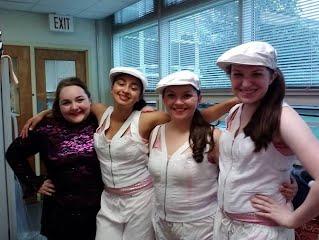 Amanda with her fellow dancers!